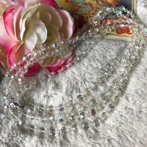 SUPER LONG Rhinestone Necklace real vintage